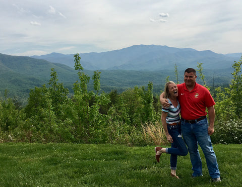 Tara with hubby in Tennessee