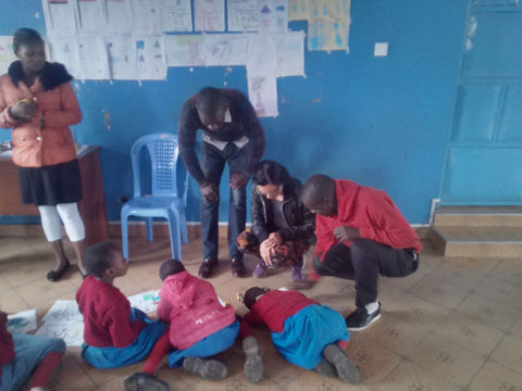 Karen in Africa teaching