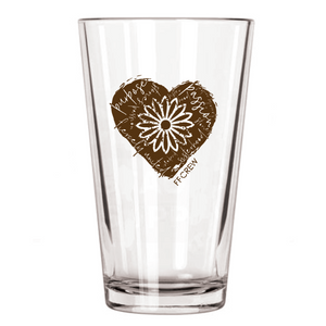 FFCrew Heart Pint Glass