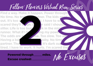 NO EXCUSES Virtual Run - Medal Package