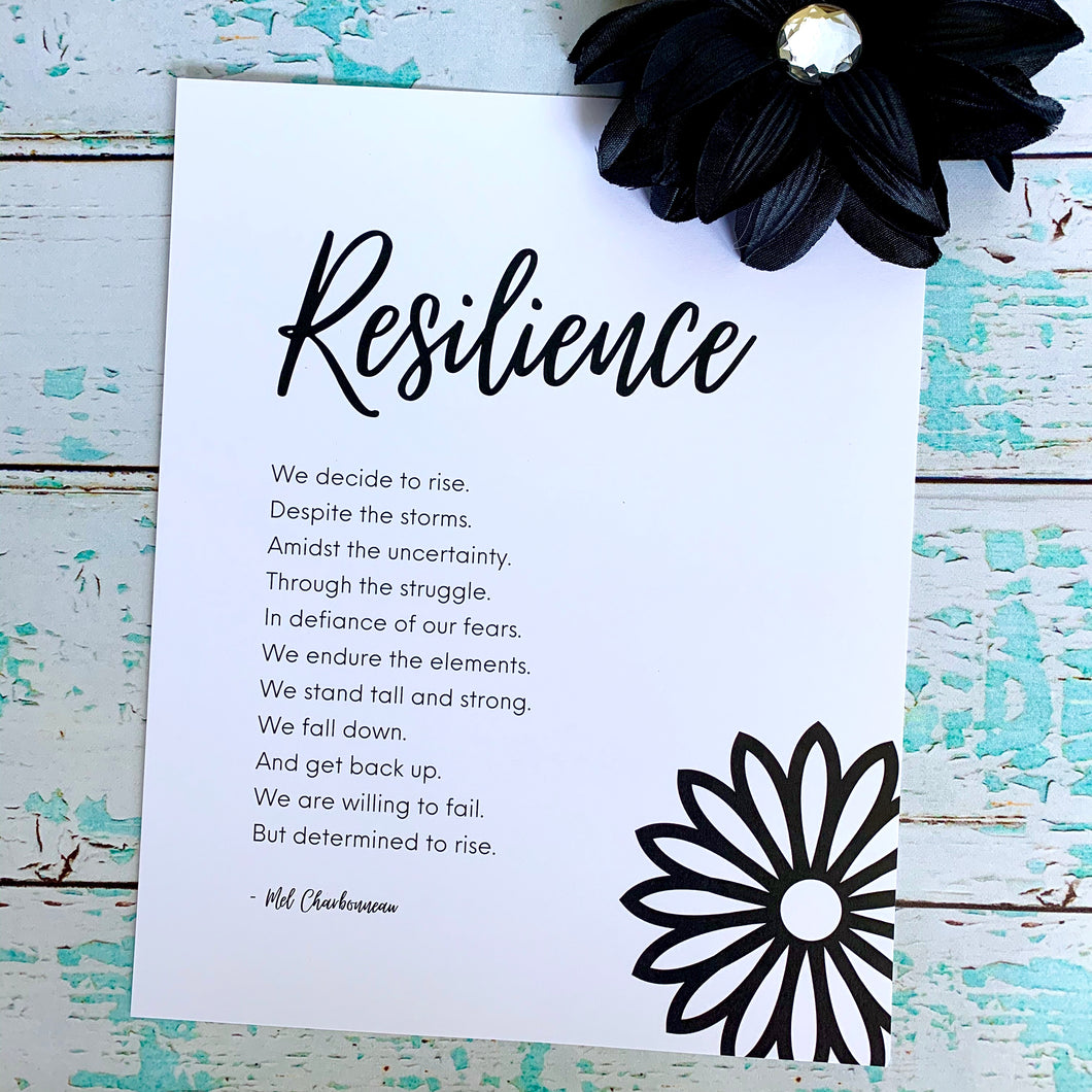 Resilience: Decide to Rise 8x10 Print