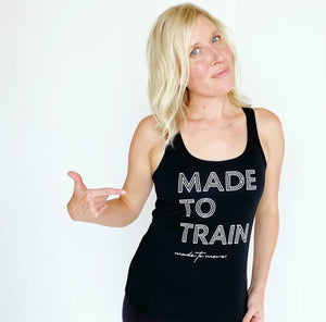 Made to Train Racerback Tech Tank
