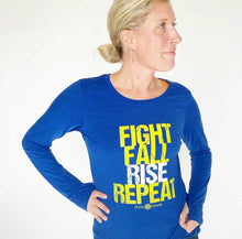 Load image into Gallery viewer, Fight, Fall, Rise, Repeat Long Sleeve Tech Tee