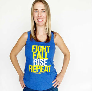 Fight, Fall, Rise, Repeat Racerback Tank