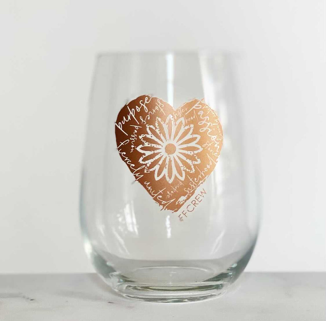 FFCrew Heart Wine Glass
