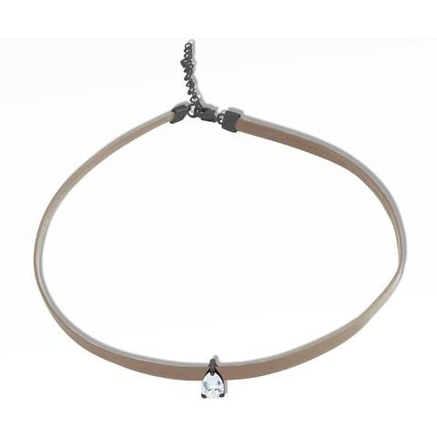 poire choker nude leather