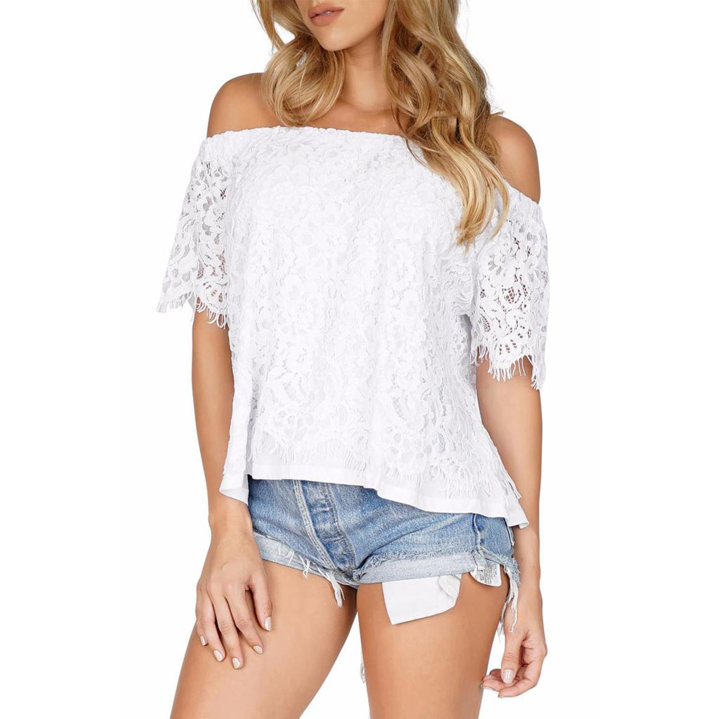 carly lace off shoulder top