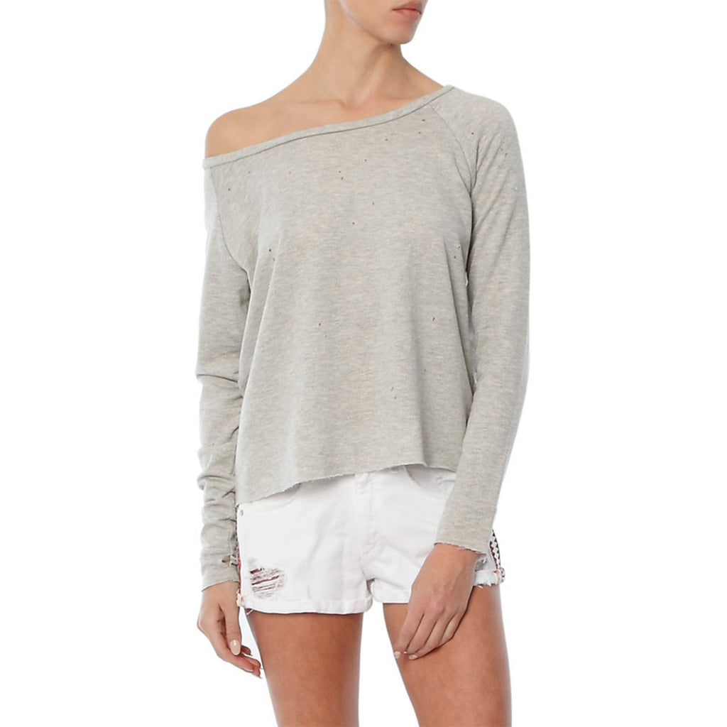 vanessa off shoulder sweatshirt