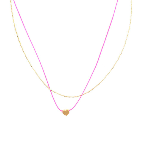 gold chain heart necklace