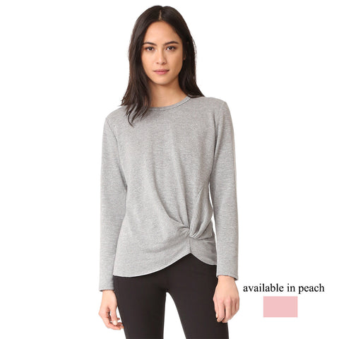 fleece long sleeve twist pullover