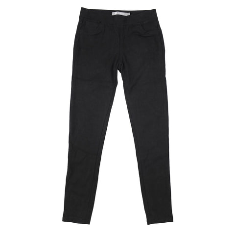 Tractr 5-pocket pull-on skinny jeans in black