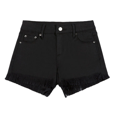5 pocket fray hem shorts