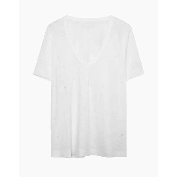 wass burn all over tee in white