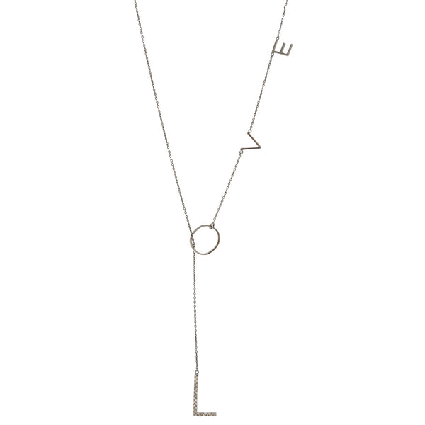 love ya diamond lariat necklace