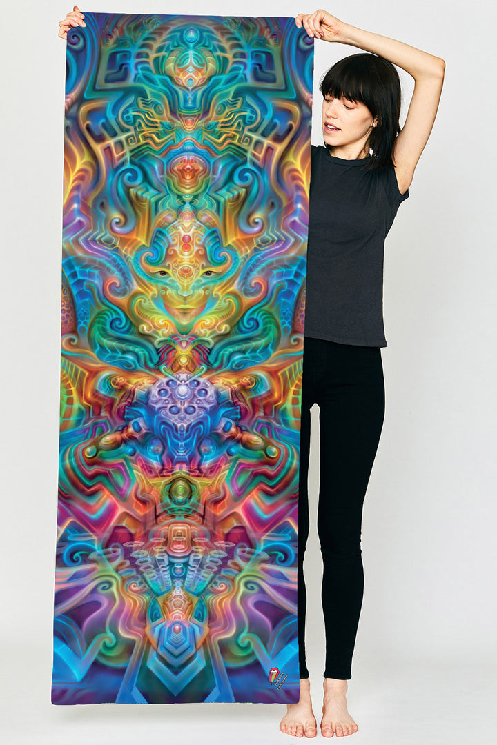 Holographic Altar Yoga Mat
