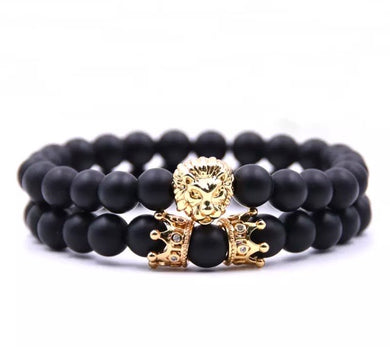 Ruler of Life Bracelet with Black Beads