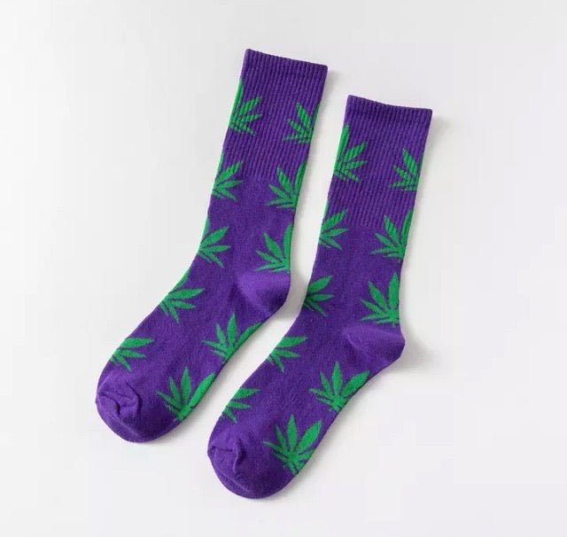 Purple and Green Hemp Socks