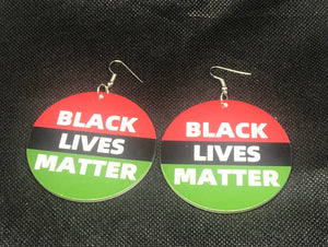 Black Lives Matter Stripe Earrings