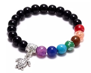 Chakra Bracelets with Silver Charms