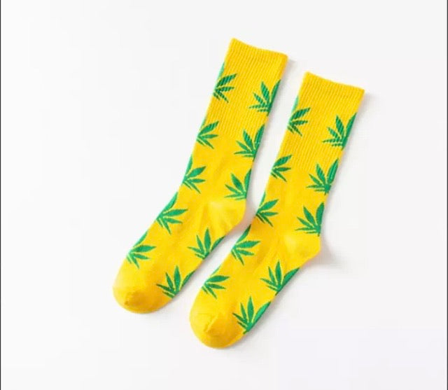 Yellow and Green Hemp Socks