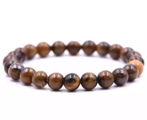 Natural Tigers Eye Beaded Bracelet