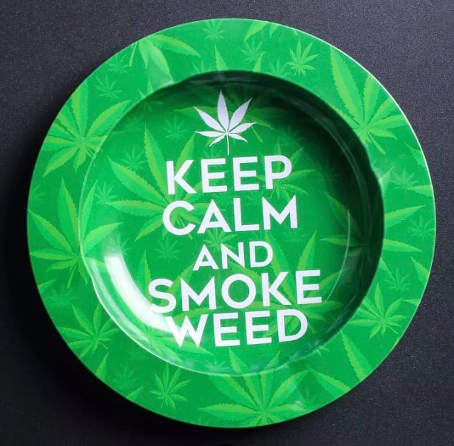 Green and white Ashtray
