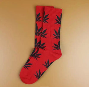 Red and Black Hemp Socks