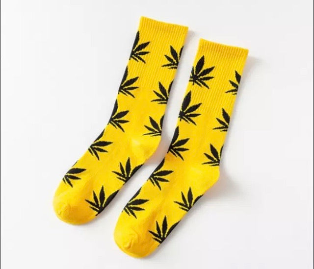 Yellow and Black Hemp Socks