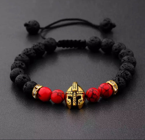 Black and Red Chakra Warriors Bracelet
