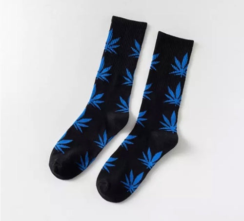 Black and Blue Hemp Socks