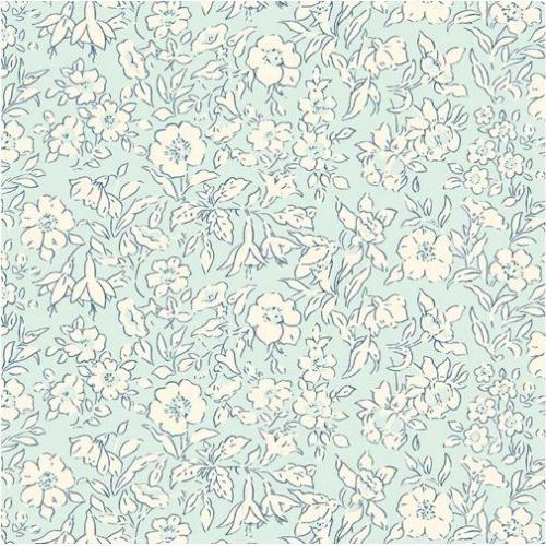 Liberty Fabrics - The Cottage Garden - Morning Dew - Pale Blue (04775609/X)