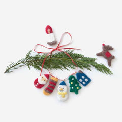 Learn to Needle Felt Christmas Ornaments