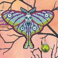 Satsuma Street Cross Stitch Kit - Goth Moth