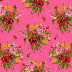 Sleeping Porch Cotton Lawn - Wildflowers Pink 42205 1