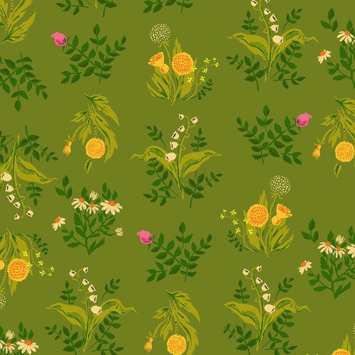 Sleeping Porch Cotton Lawn - Bouquet Olive 42207 8
