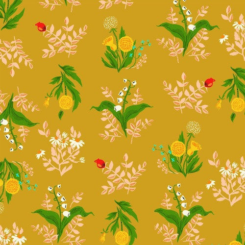 Sleeping Porch Cotton Lawn - Bouquet Gold 42207 9