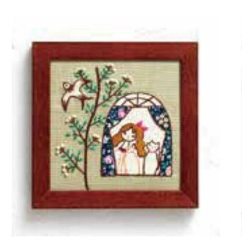 Lecien - Life With My Cat Embroidery Kit - 831 Window