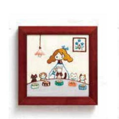 Lecien - Life With My Cat Embroidery Kit - 832 Dining