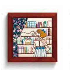 Lecien - Life With My Cat Embroidery Kit - 834 Bookshelf