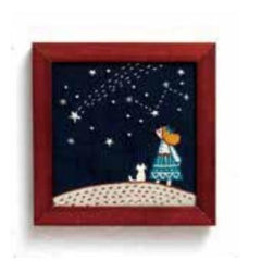 Lecien - Life With My Cat Embroidery Kit - 835 Starry Night