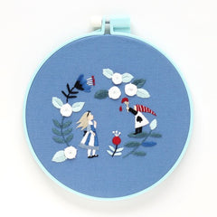 Anna & Lapin - Alice in Wonderland Embroidery Hoop Kit