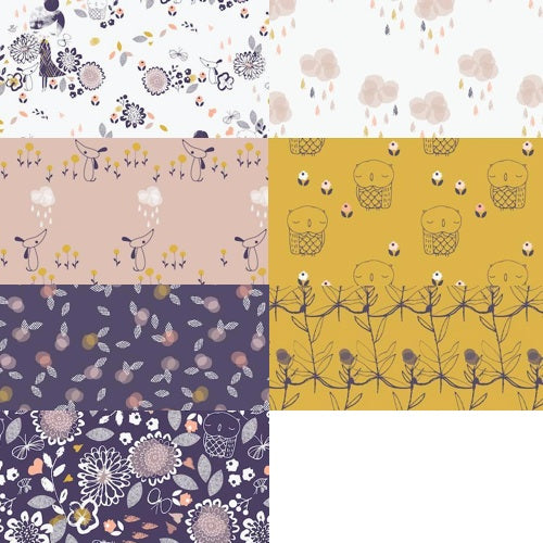 Autumn Rain Fat Quarter Bundle / 7 pcs