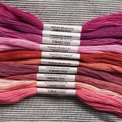 Temaricious Natural Embroidery Floss - Bright Pink Pack