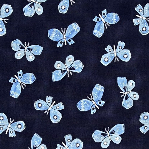Honey Bee - Butterflies Navy