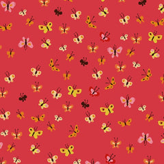 Tiger Lily Collection - Butterflies (coral)