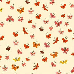 Tiger Lily Collection - Butterflies (cream)