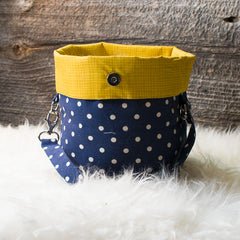 Bucket Bag - Polka Dot Canvas