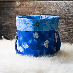 Bucket Bag - Blue Leaves