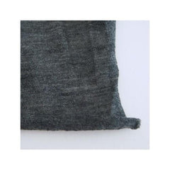 Check & Stripe Wool Jersey / Charcoal Grey / 91cm x182cm