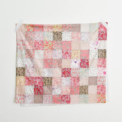 Check & Stripe with Liberty Patchwork Blanket Kit (Pink)